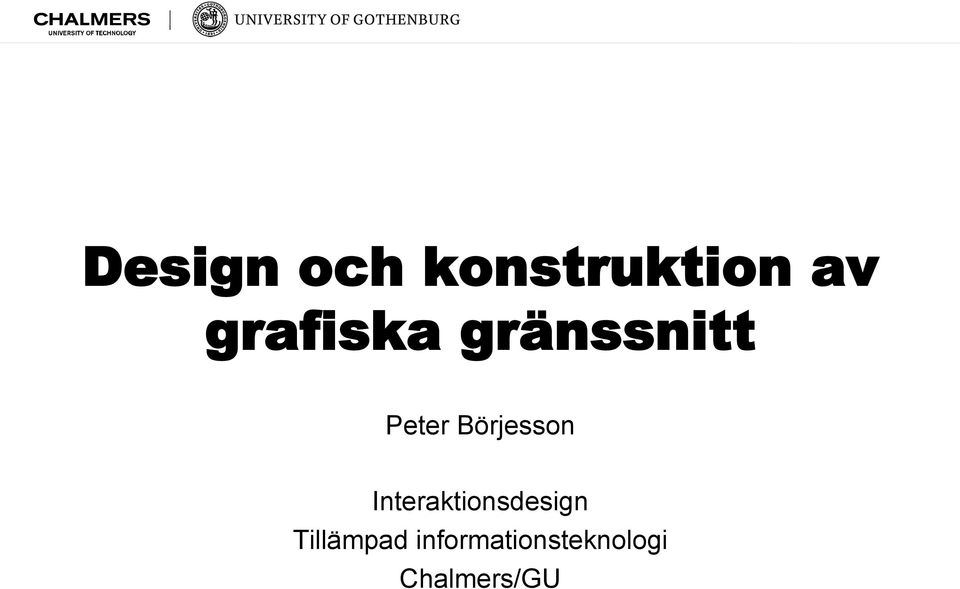 Börjesson Interaktionsdesign