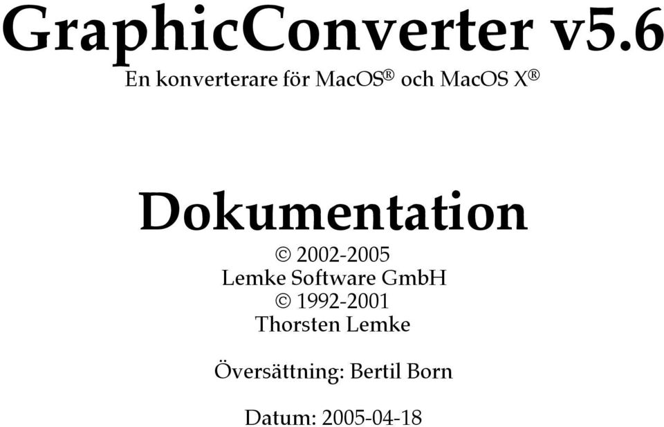 Dokumentation 2002-2005 Lemke Software