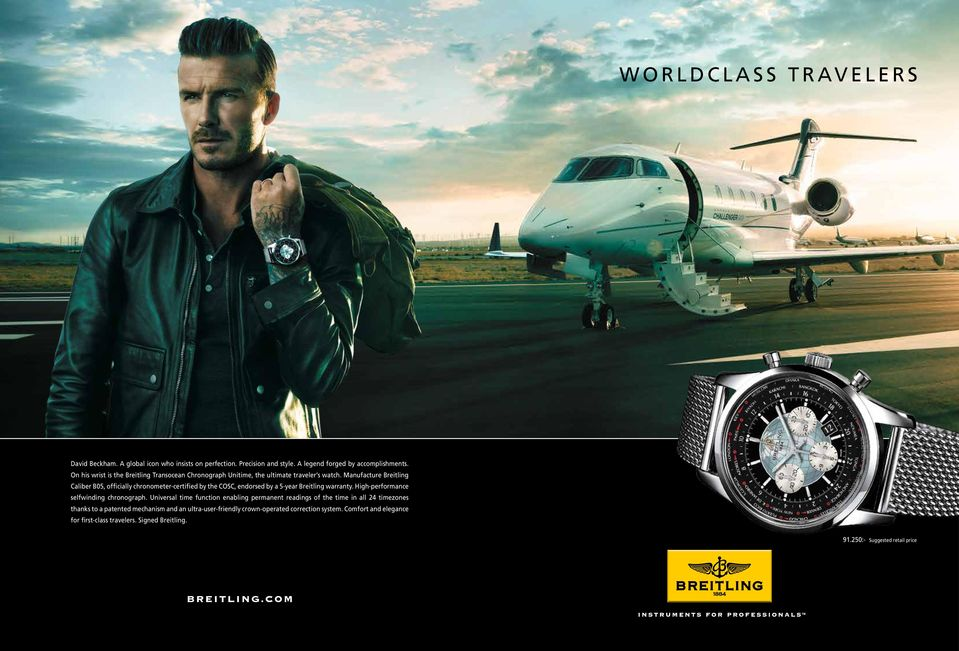 Manufacture Breitling Caliber B05, officially chronometer-certified by the COSC, endorsed by a 5-year Breitling warranty. High-performance selfwinding chronograph.