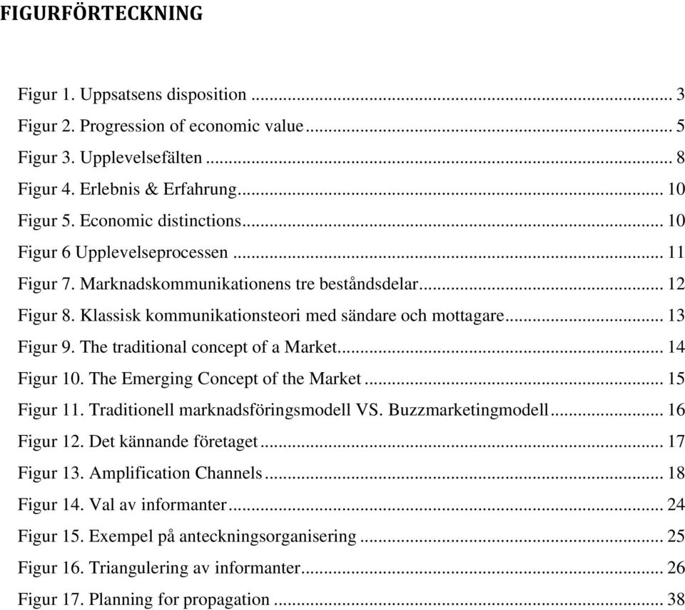 The traditional concept of a Market... 14 Figur 10. The Emerging Concept of the Market... 15 Figur 11. Traditionell marknadsföringsmodell VS. Buzzmarketingmodell... 16 Figur 12.