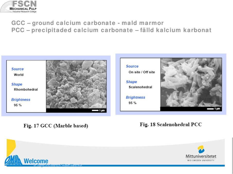 PCC precipitaded calcium