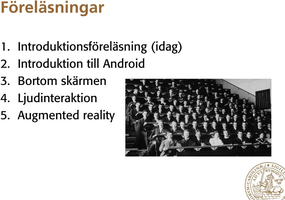 Introduktion till Android 3.