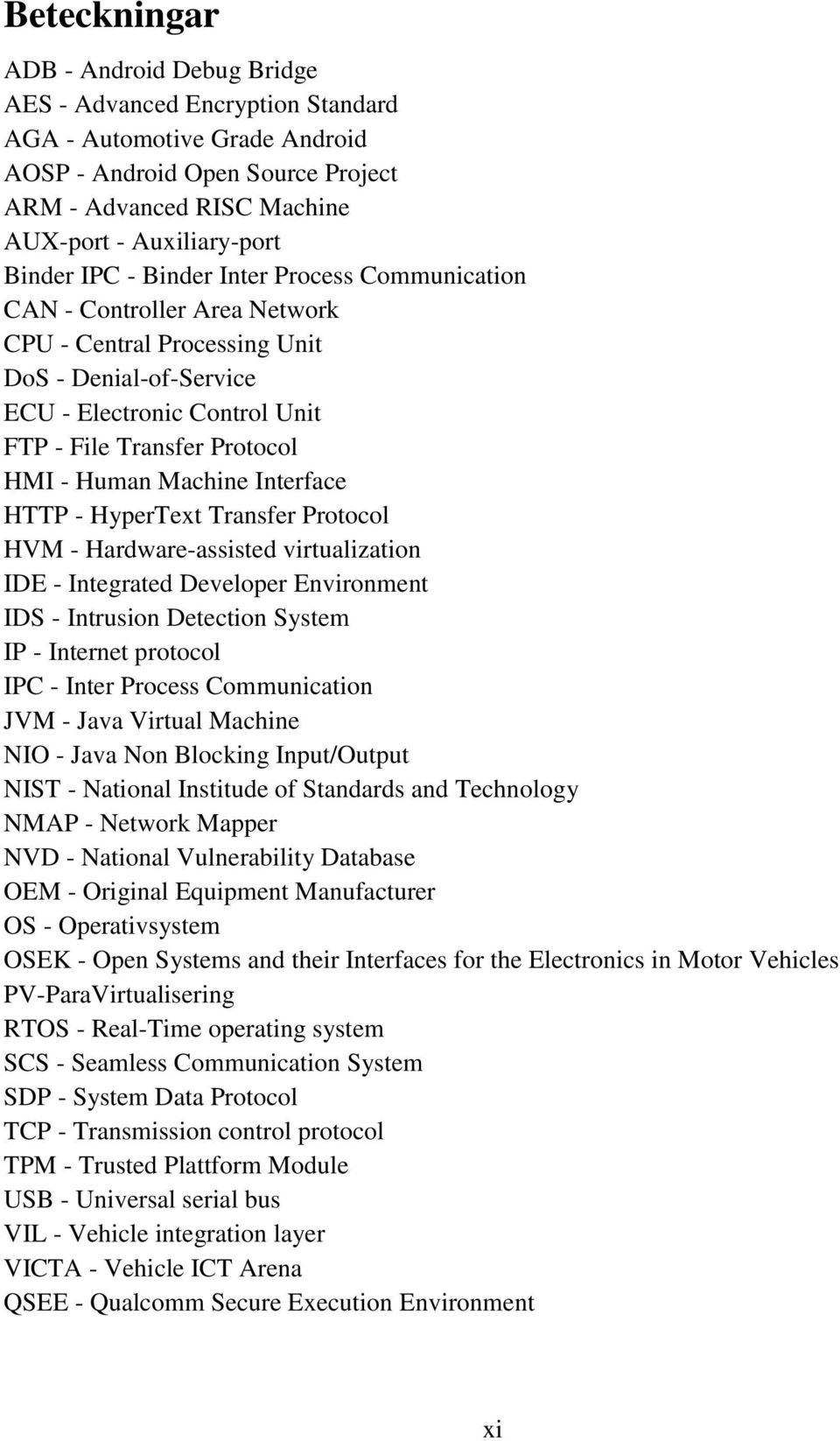 Human Machine Interface HTTP - HyperText Transfer Protocol HVM - Hardware-assisted virtualization IDE - Integrated Developer Environment IDS - Intrusion Detection System IP - Internet protocol IPC -