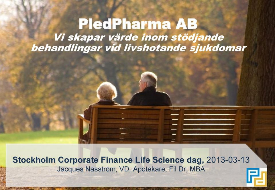 Stockholm Corporate Finance Life Science dag,