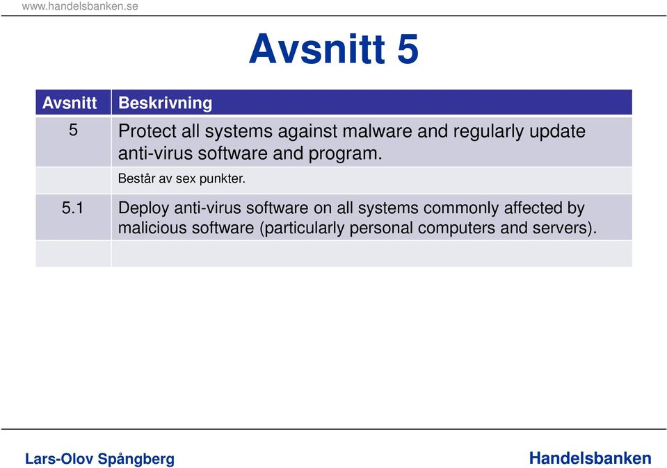 1 Deploy anti-virus software on all systems commonly affected