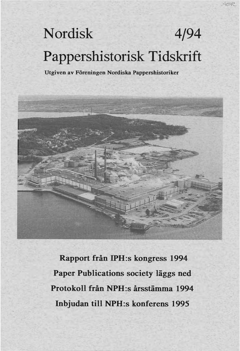 kongress 1994 Paper Publications society läggs ned