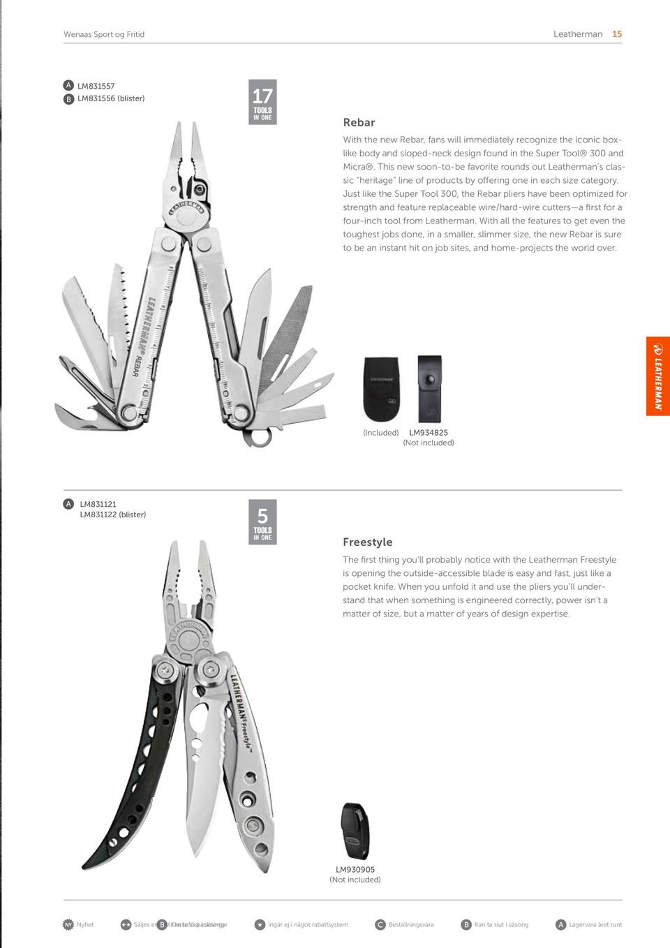 Just like the Super Tool 300, the Rebar pliers have been optimized for strength and feature replaceable wire/hard-wire cutters a first for a four-inch tool from Leatherman.