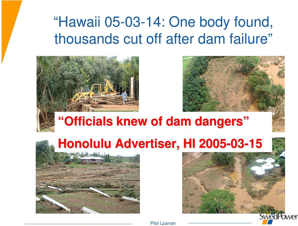 failure Officials knew of dam