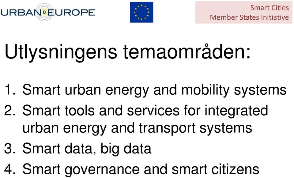 Smart tools and services for integrated urban energy