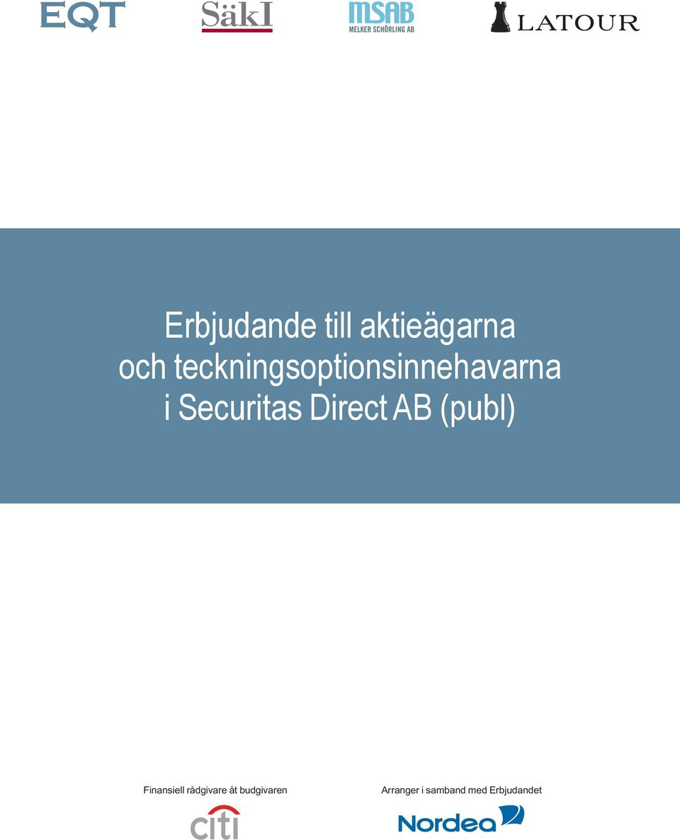 Securitas Direct AB (publ) Finansiell