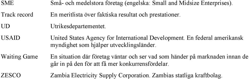 United States Agency for International Development. En federal amerikansk myndighet som hjälper utvecklingsländer.