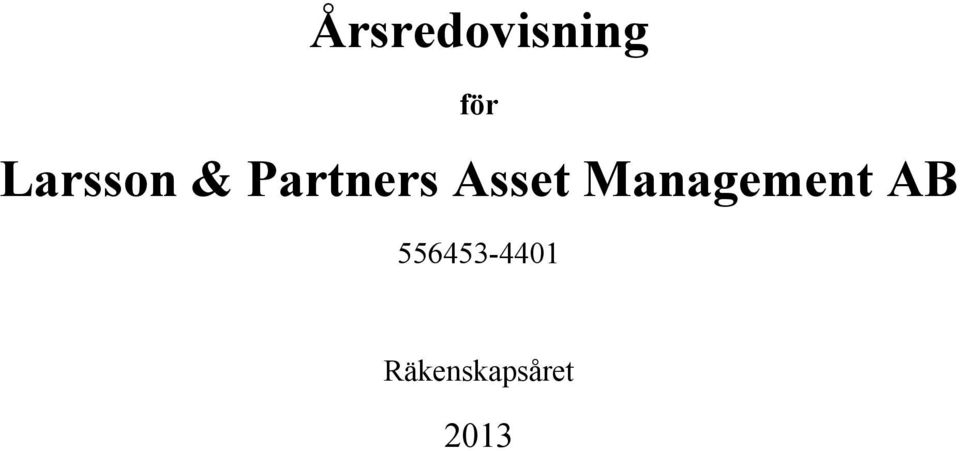 Asset Management AB