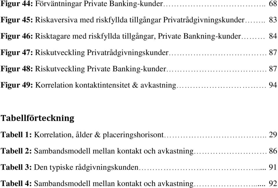 Riskutveckling Private Banking-kunder.