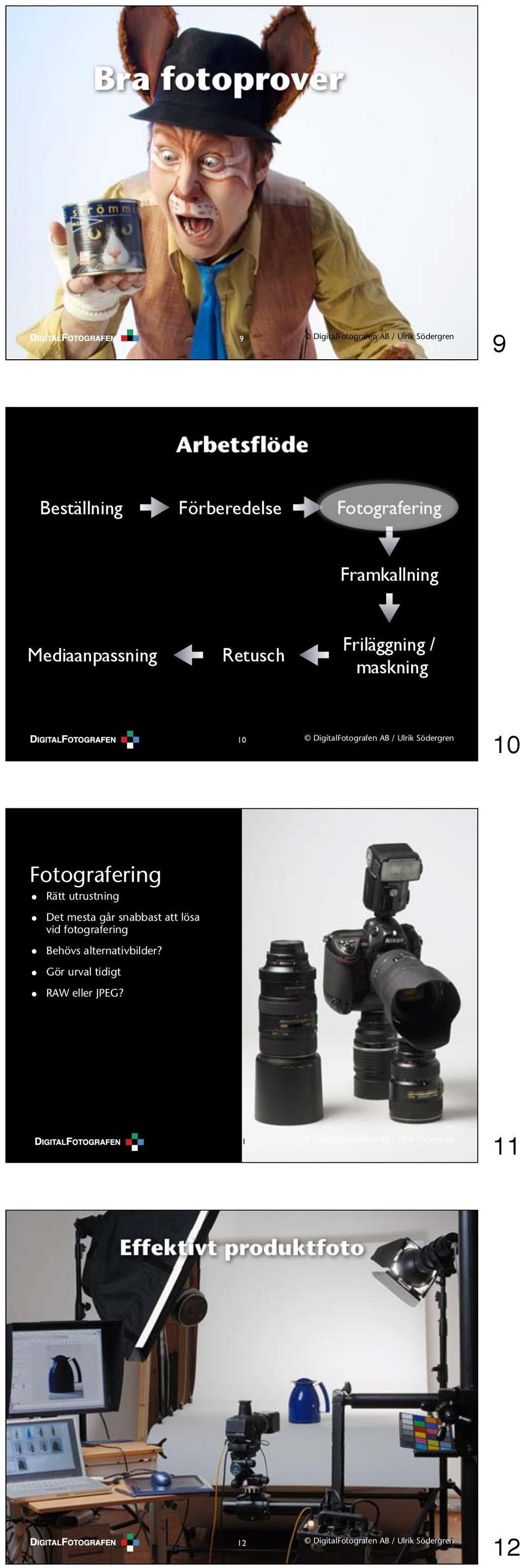 fotografering Behövs alternativbilder?
