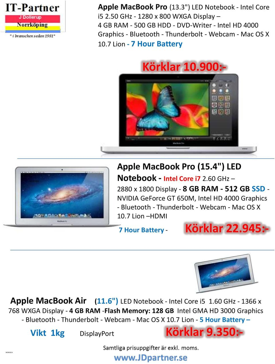 "900:- MD101S/A MC976S/A Apple MacBook Pro (15.4"") LED Notebook - Intel Core i7 2."
