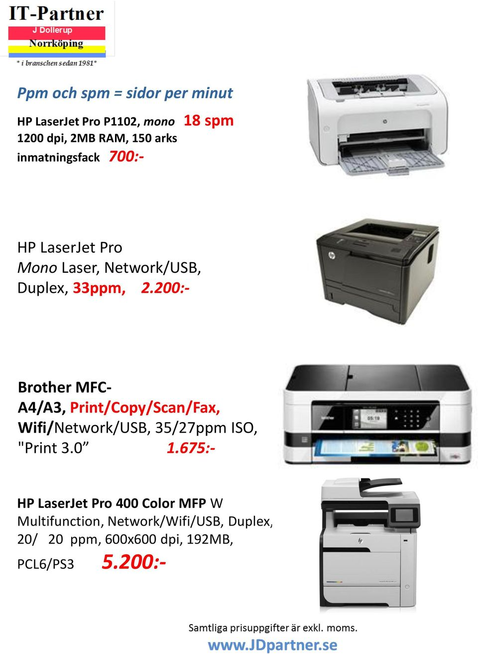"200:- Brother MFC- A4/A3, Print/Copy/Scan/Fax, Wifi/Network/USB, 35/27ppm ISO, ""Print 3.0 1."