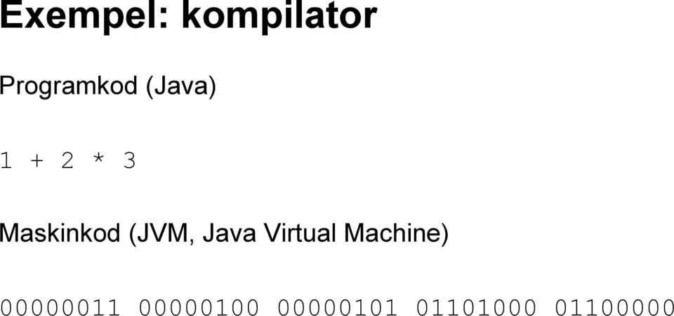 Java Virtual Machine) 00000011