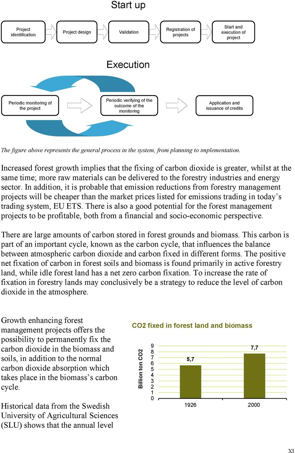 Increased forest growth implies that the fixing of carbon dioxide is greater, whilst at the same time; more raw materials can be delivered to the forestry industries and energy sector.
