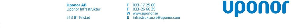 F 033-26 66 39 W www.uponor.
