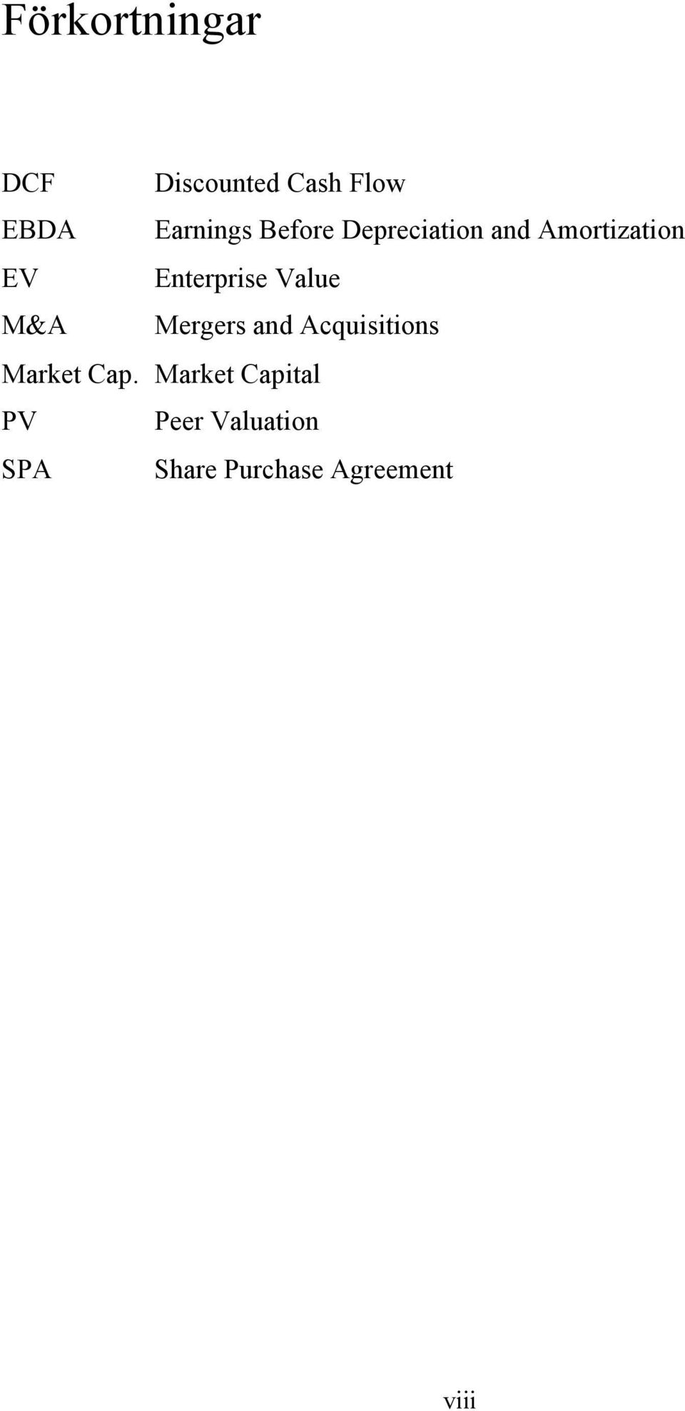 Value M&A Mergers and Acquisitions Market Cap.
