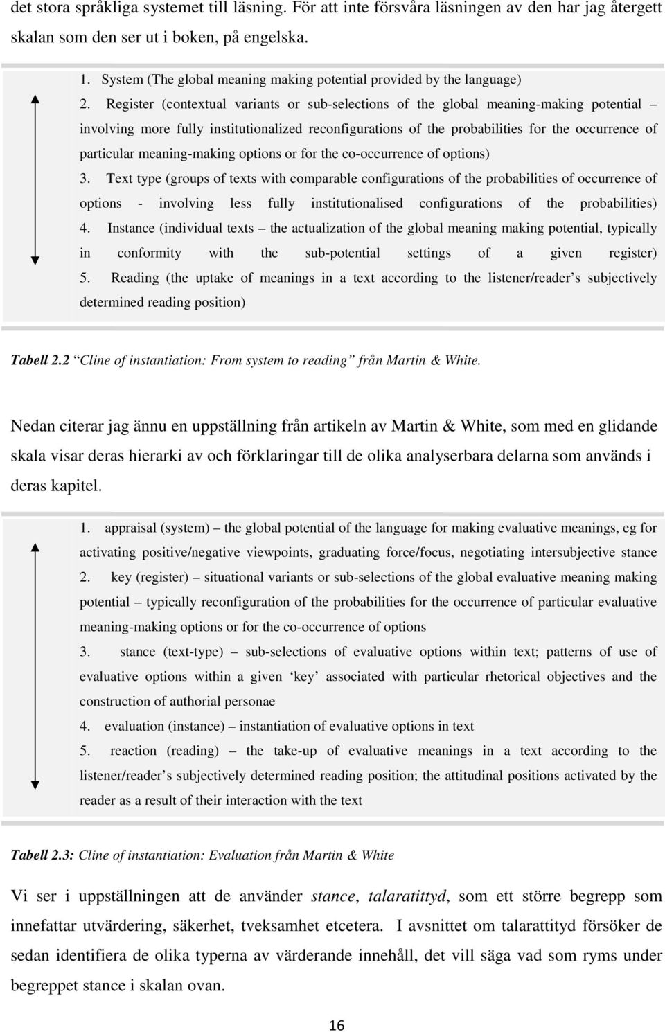 Register (contextual variants or sub-selections of the global meaning-making potential involving more fully institutionalized reconfigurations of the probabilities for the occurrence of particular