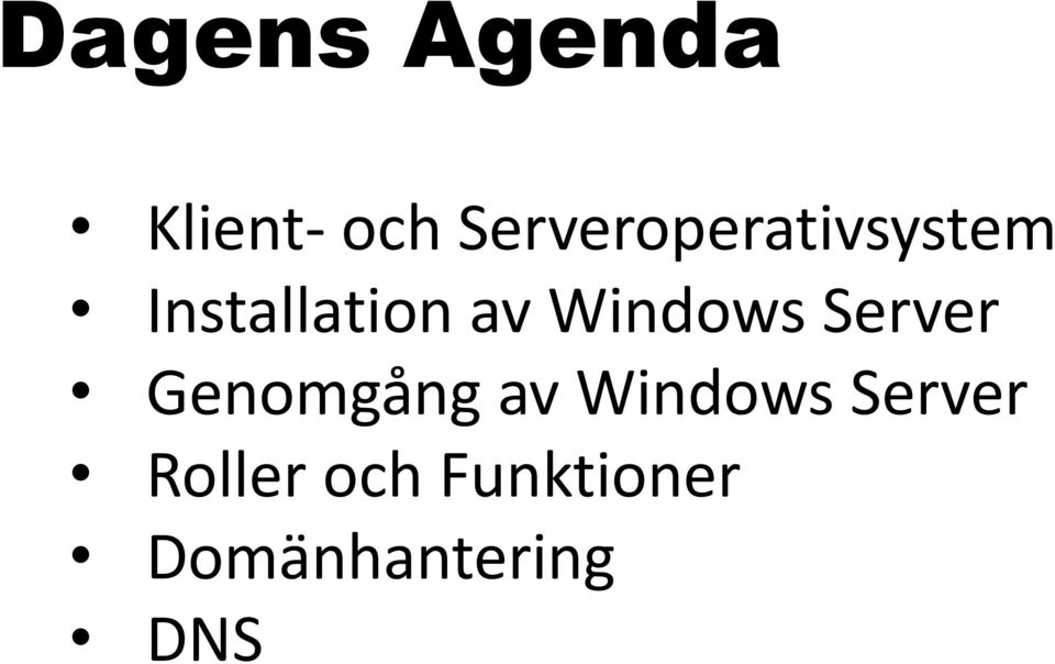Windows Server Genomgång av Windows