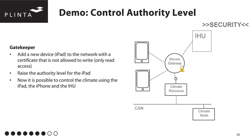 Raise the authority level for the ipad Now it is possible to control the climate