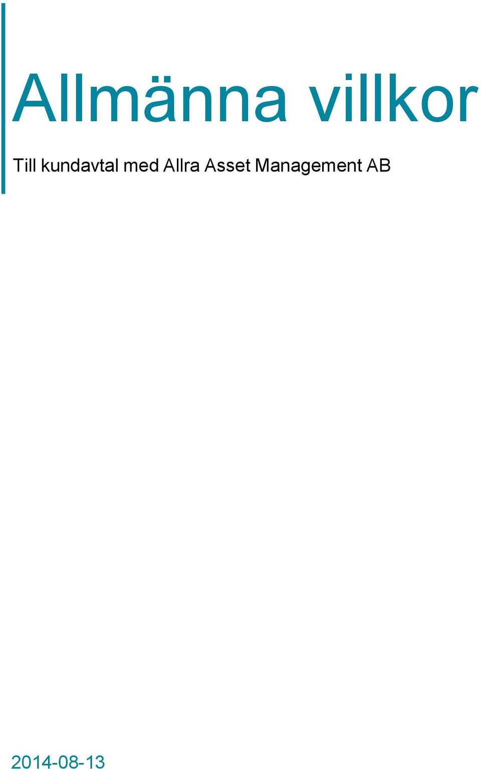allra asset management ab