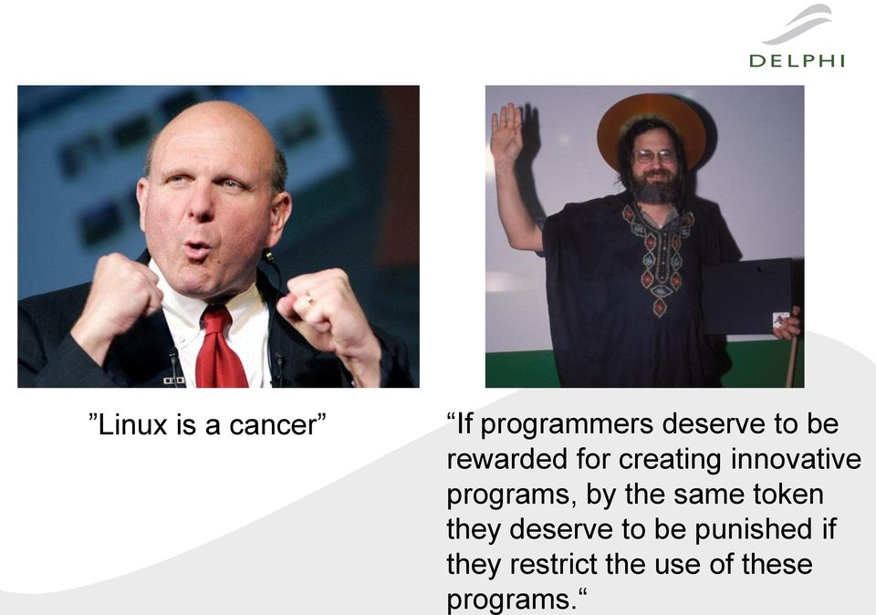 programs, by the same token they deserve to