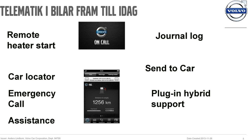 Plug-in hybrid support Assistance Issuer: Anders