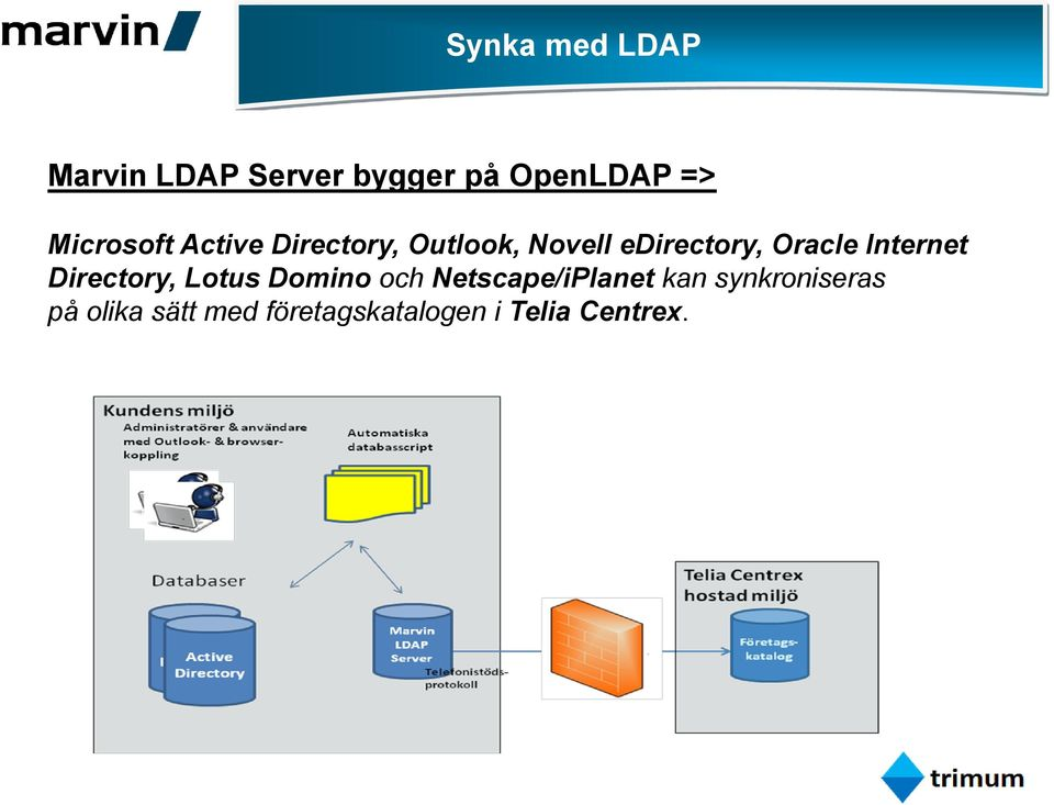 Oracle Internet Directory, Lotus Domino och Netscape/iPlanet