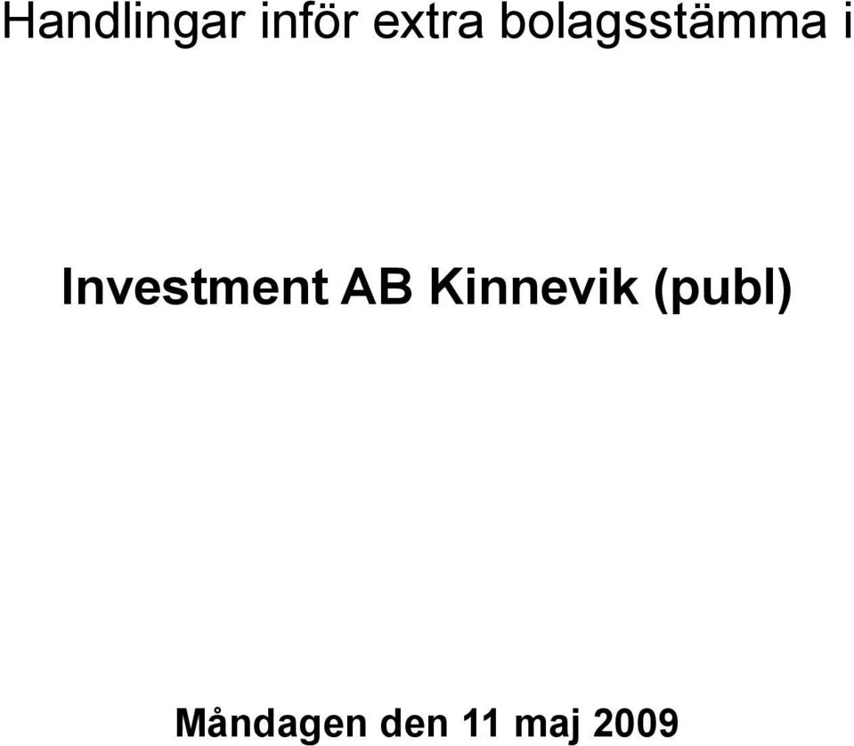 Investment AB Kinnevik