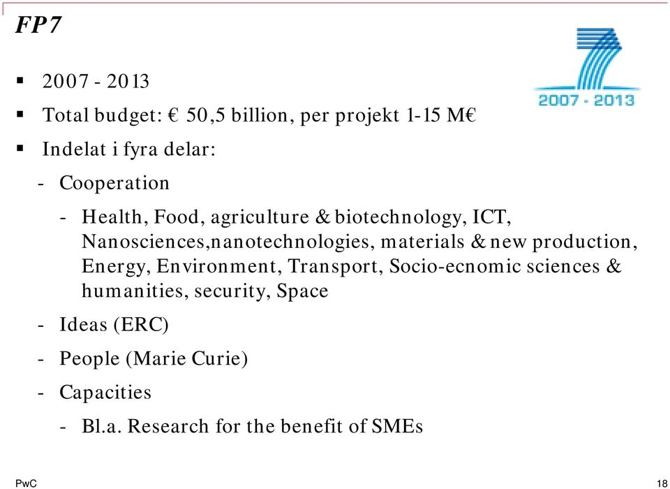 production, Energy, Environment, Transport, Socio-ecnomic sciences & humanities, security, Space
