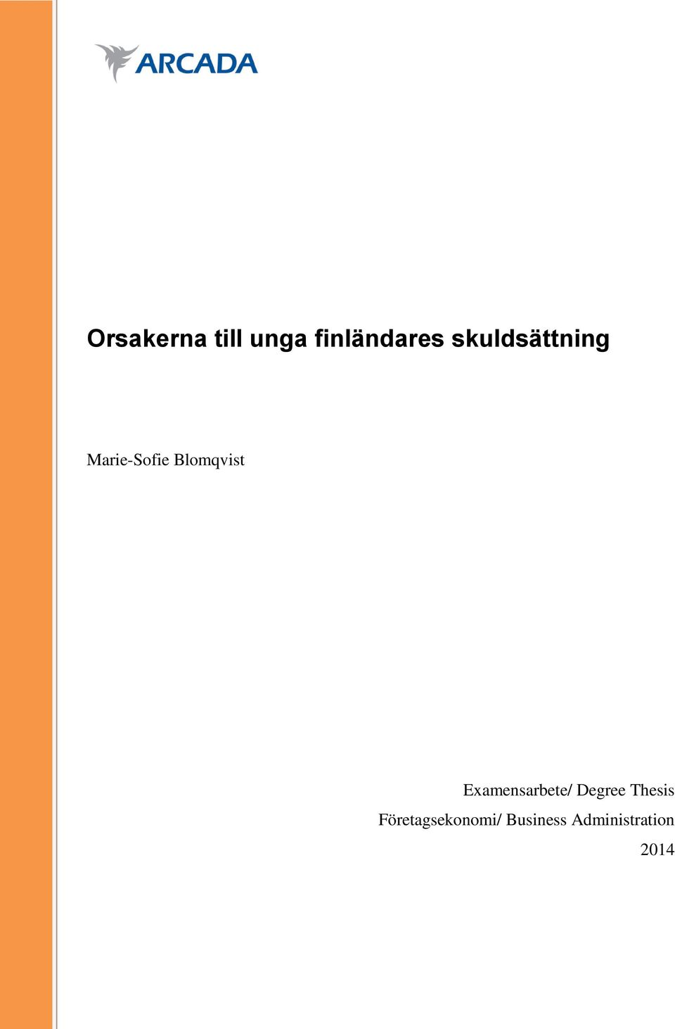 Examensarbete/ Degree Thesis