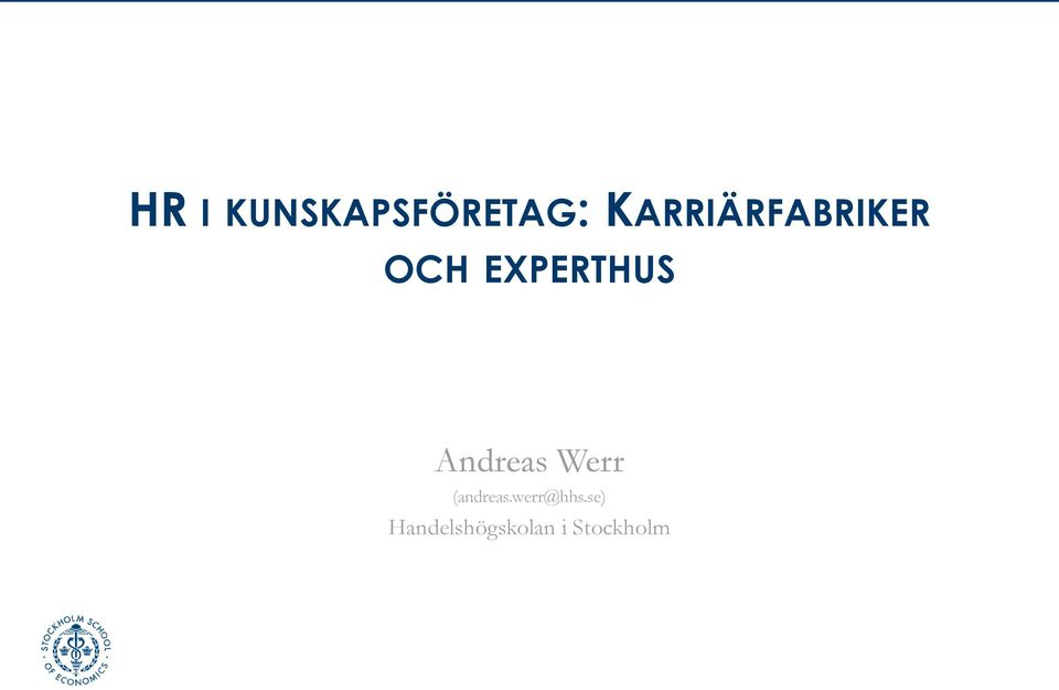 EXPERTHUS Andreas Werr