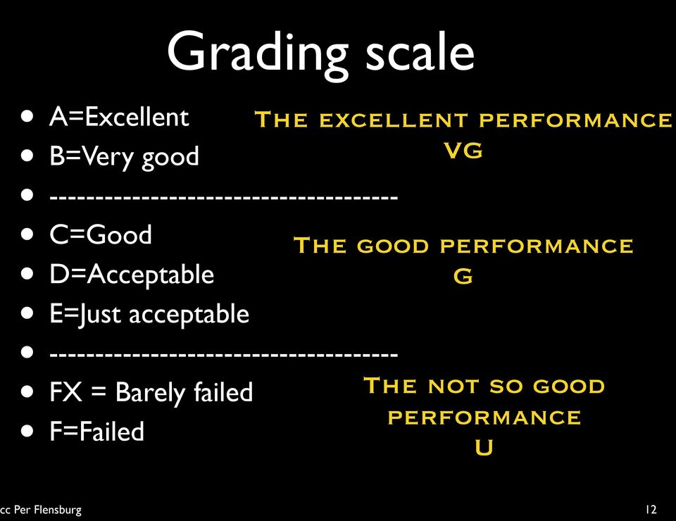 good performance G E=Just acceptable