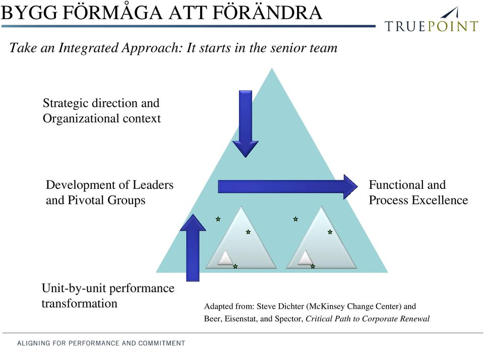 Functional and Process Excellence Unit-by-unit performance transformation Adapted from: