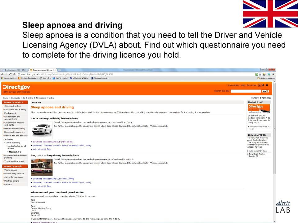 Licensing Agency (DVLA) about.