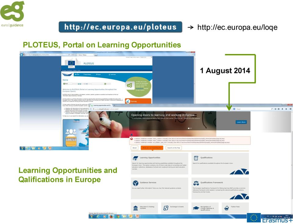 Learning Opportunities 1 August