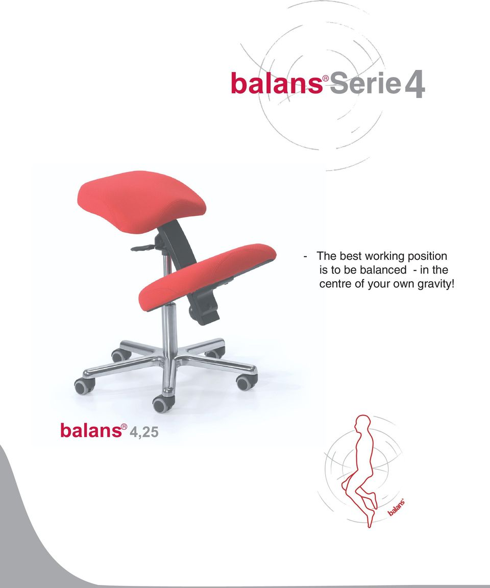 balanced - in the centre of