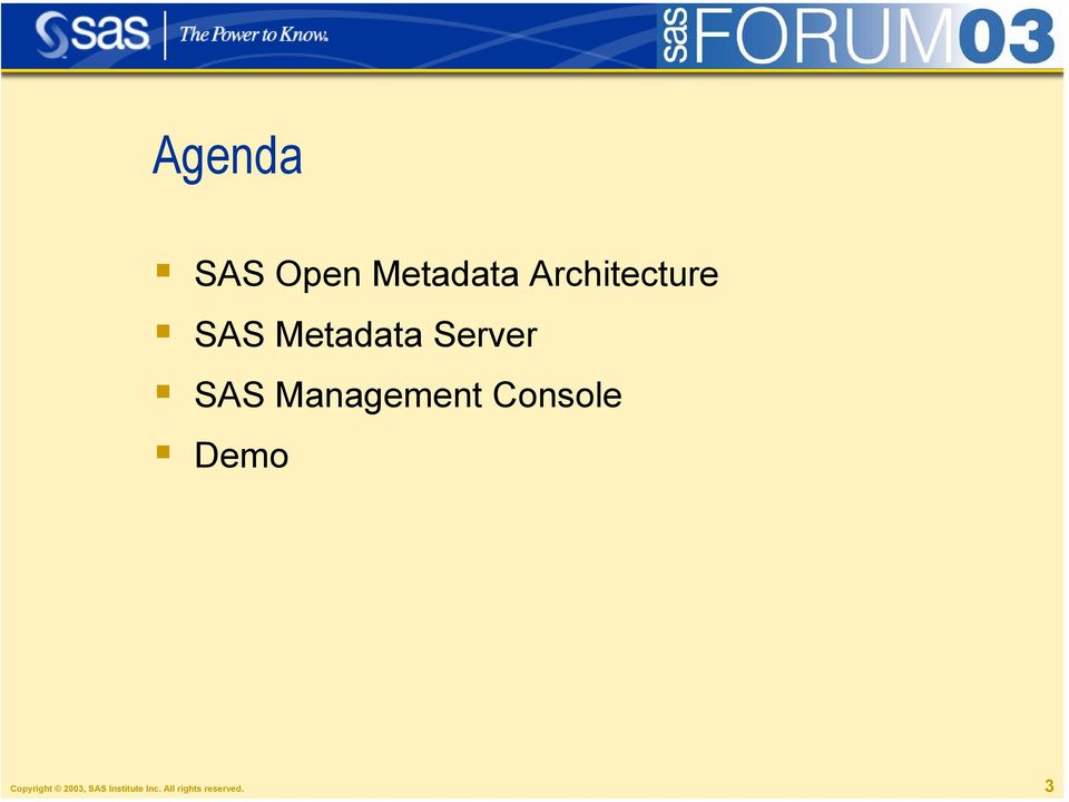 SAS Management Console Demo