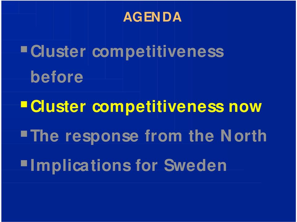 Cluster competitiveness now