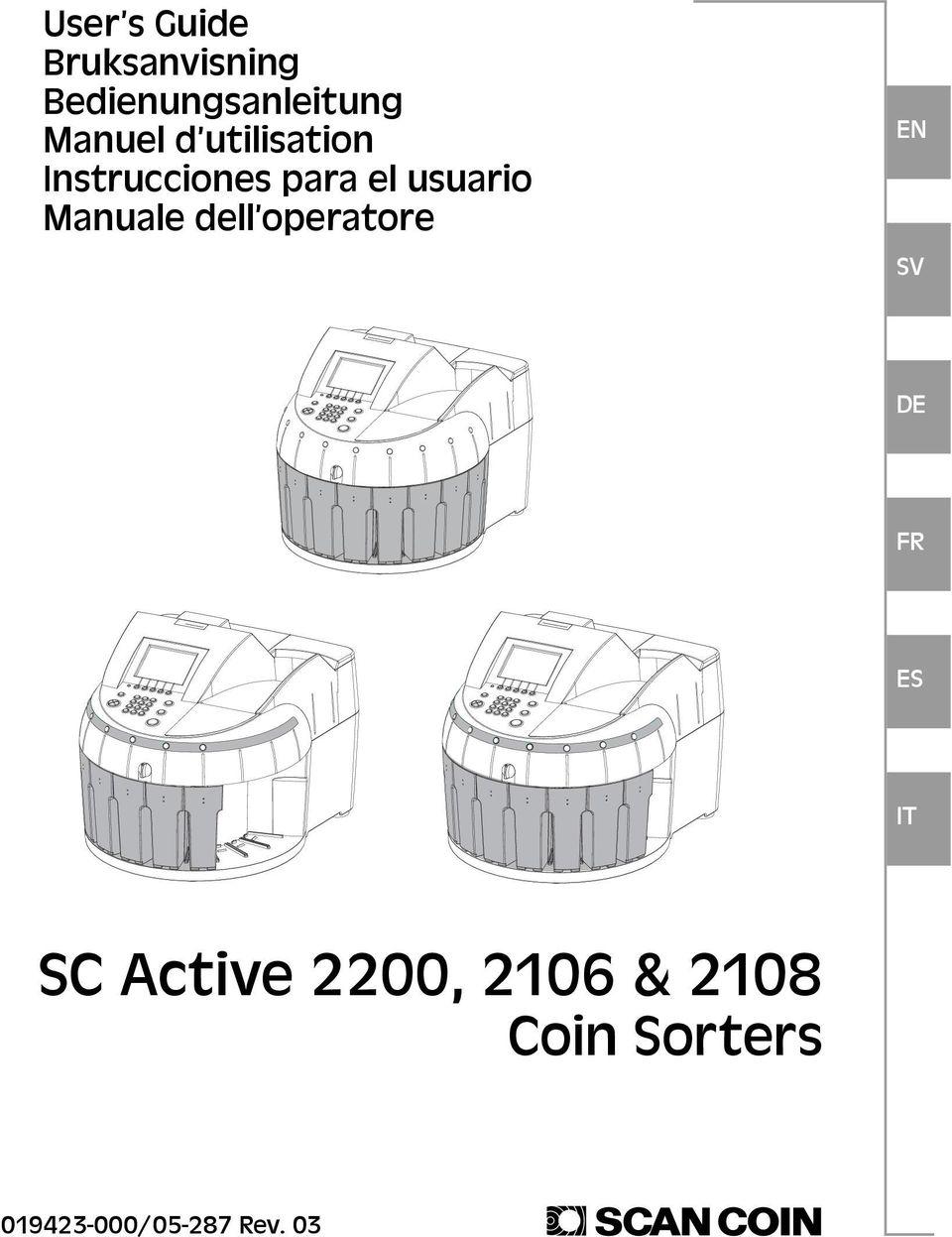 Manuale dell operatore EN DE FR ES IT SC Active