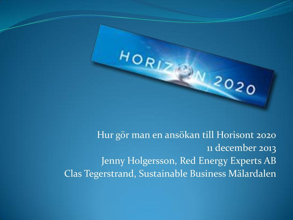 Holgersson, Red Energy Experts AB