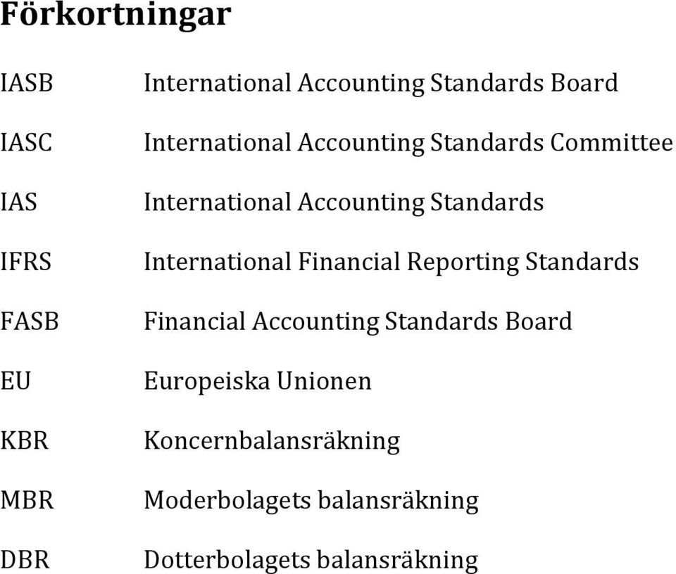 International Financial Reporting Standards Financial Accounting Standards Board