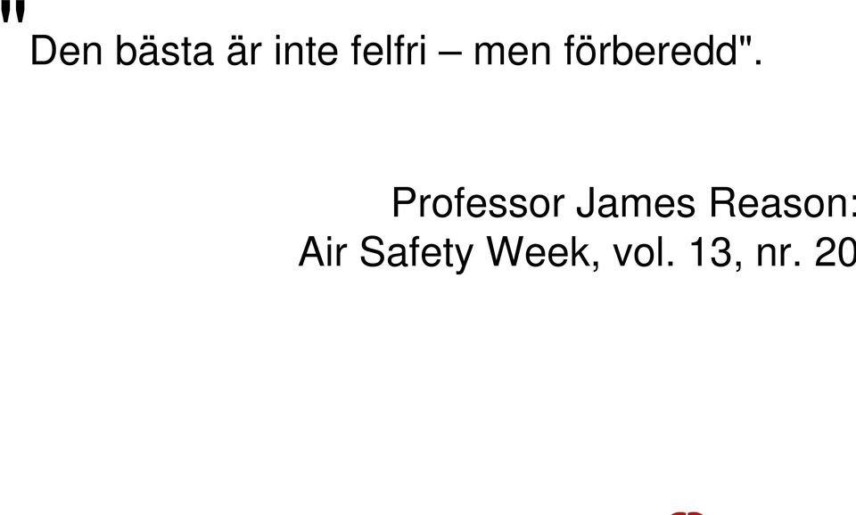 Professor James Reason:
