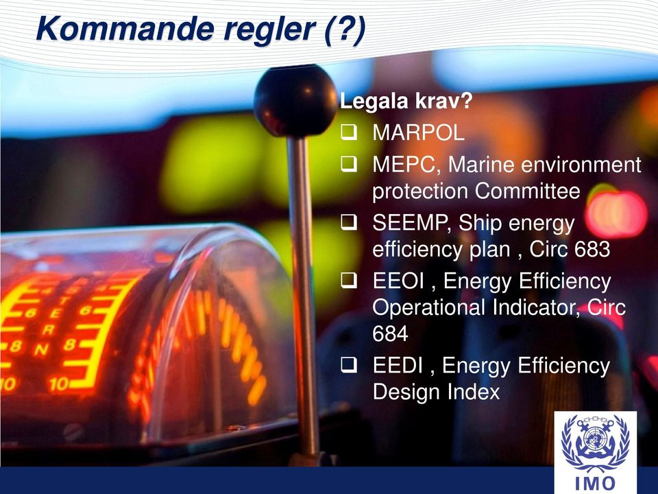 SEEMP, Ship energy efficiency plan, Circ 683 EEOI,