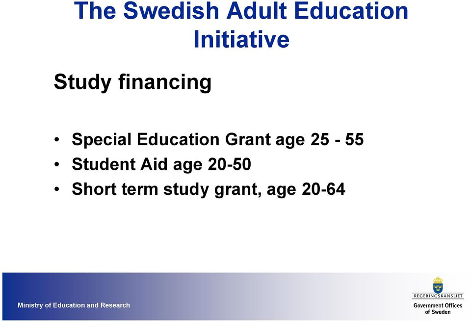 Student Aid age 20-50