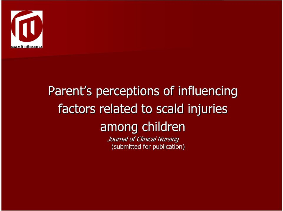 scald injuries among children