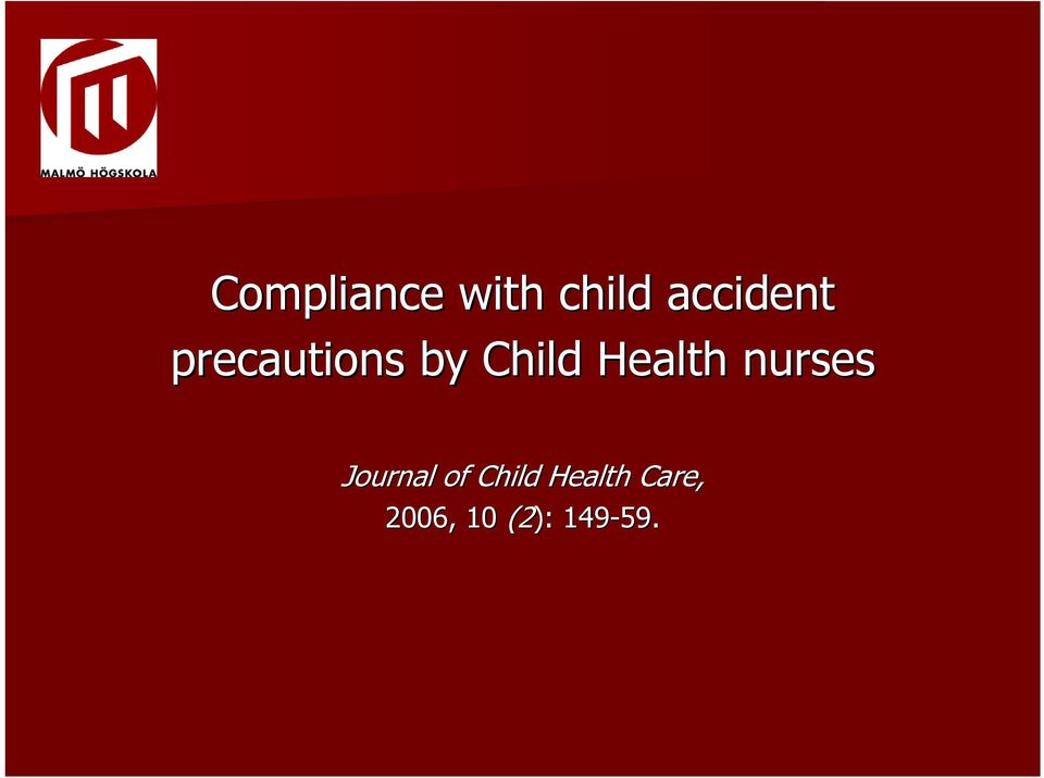 Health nurses Journal of